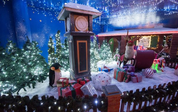 Birmingham house of Frase christmas Window