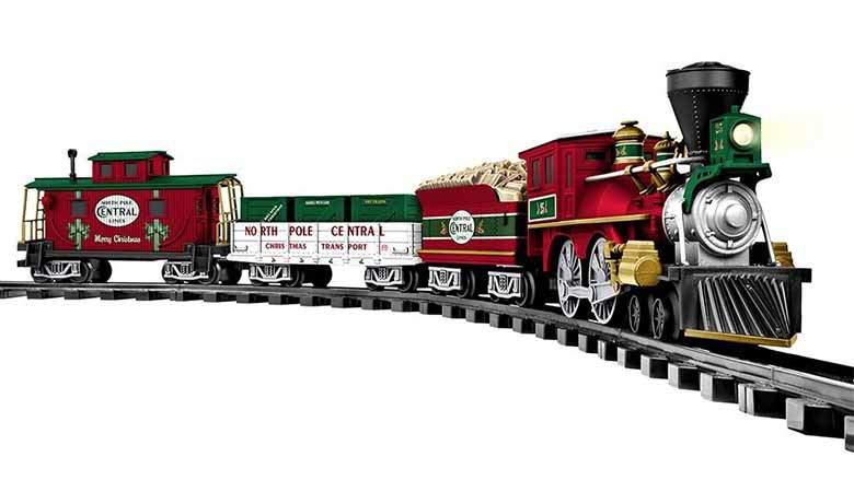 zestaw świąteczny pociągu