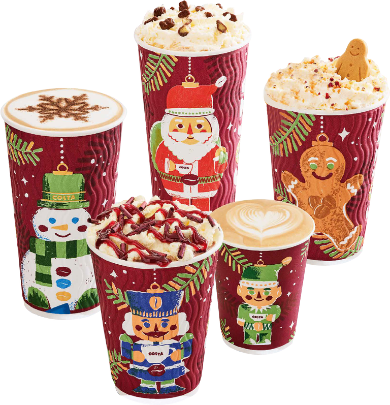 costa coffee Powracają świąteczne kubki