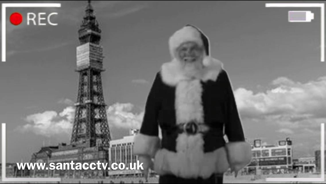 santa caught on santa cam blackpool tower