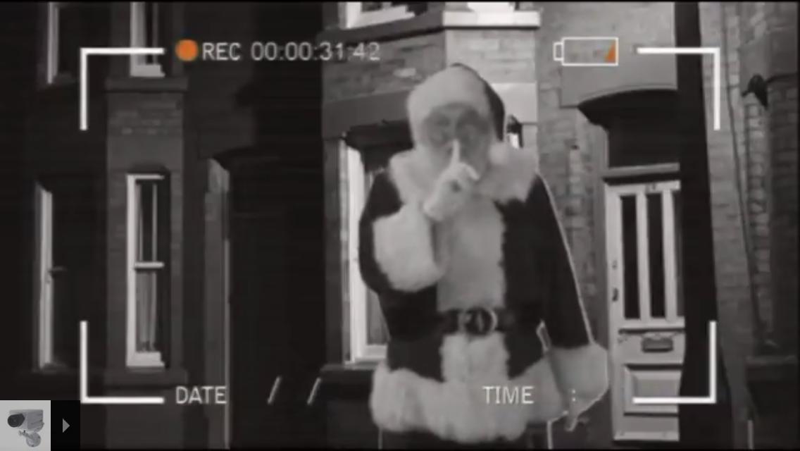 santa caught on camera outside on santa cam