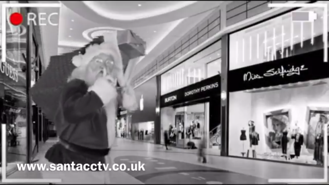 santa spotted at the apple store on santacam cctv