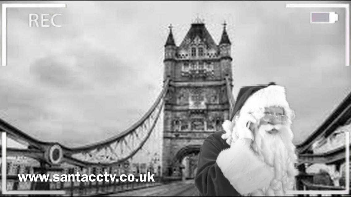 santa caught on santa cam cctv at tower bridge