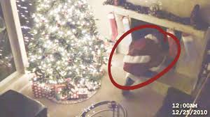 santa caught on santa cam