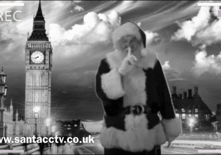 santa big ben caught on santa cam