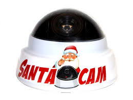 red and white santa cam