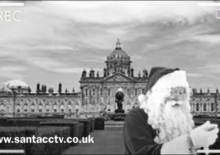 santa caught on santa cam santa cctv