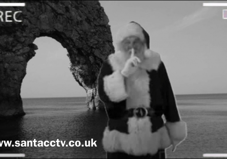 santa caught on santacam dorset