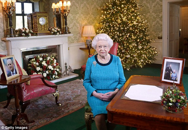 de koningin met Kerstmis