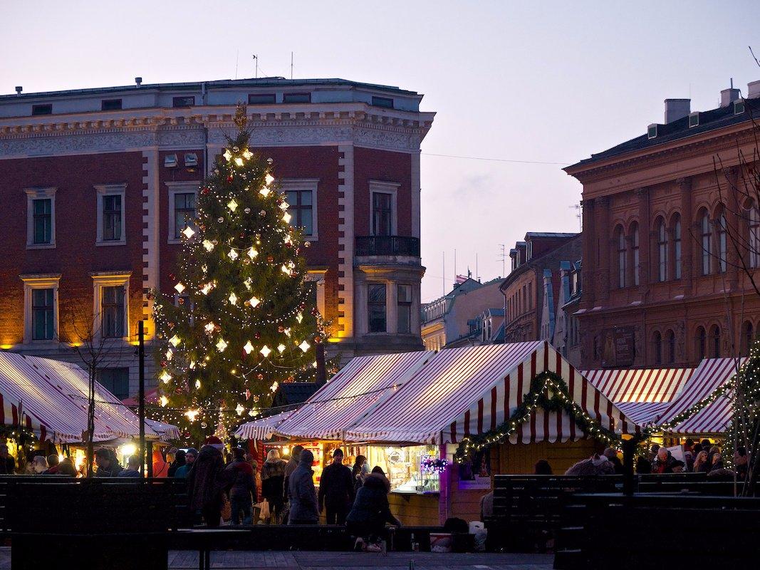 Mercado navideño de Riga