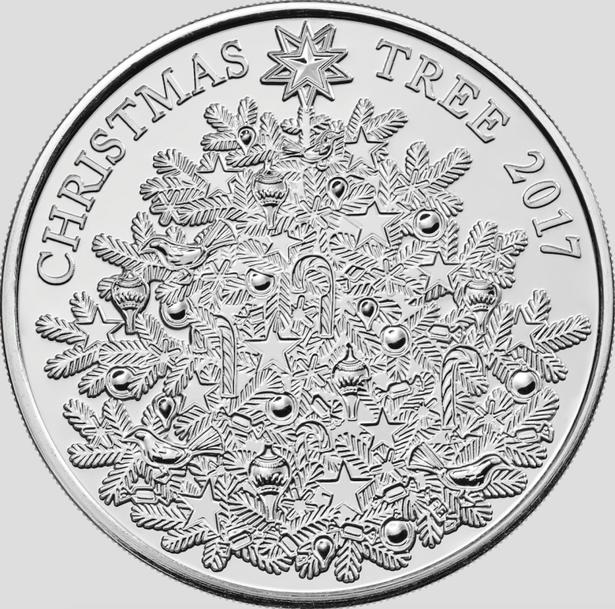 königliche Minze Weihnachtsmünze