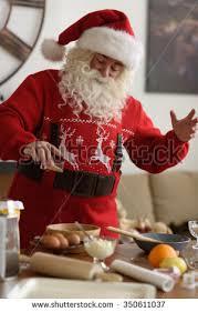 Santa blir filmet på Santa Cam matlaging