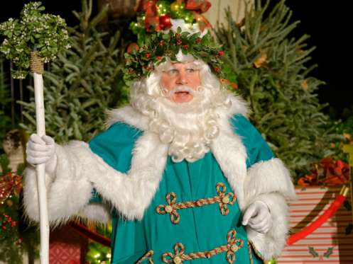 Santa claus dressed in Green
