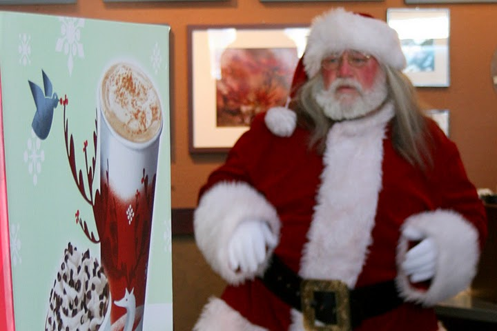 Santa Claus opens a new Coffee shop Called Santa-bucks