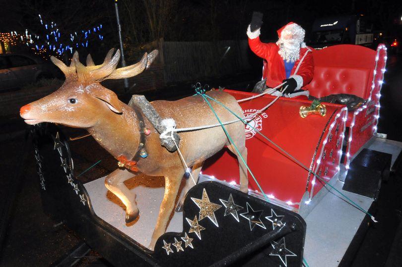 Julenissen besøker Shepshed