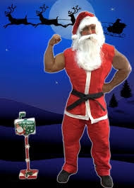 Santa graba un video de fitness en Santa cam Christmas 2018