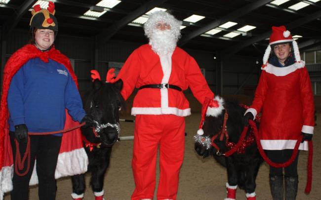 Papá Noel en un evento de Happa