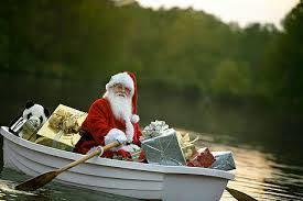 Święty Mikołaj na jeziorze