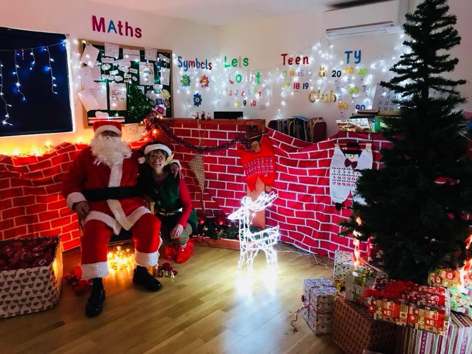 Santa at Ascot School