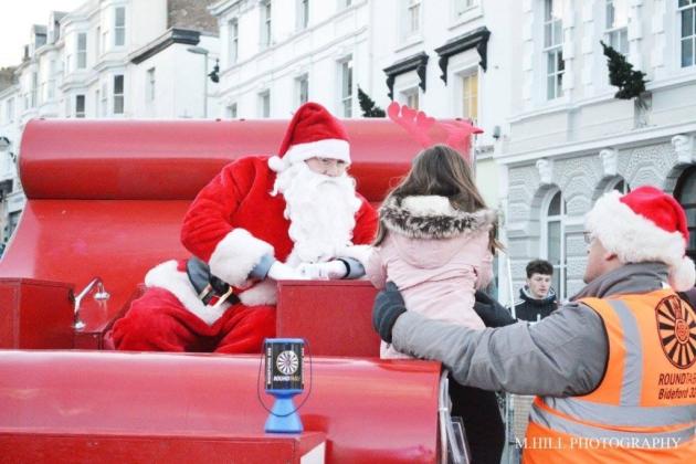 Paseos en trineo de Santa