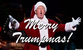 President troef met Kerstmis